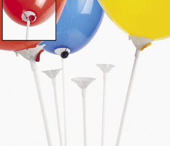 Прчка за балони, бяла