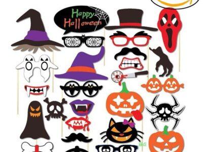 Аксесоари за забавни снимки, Happy Halloween 26 части