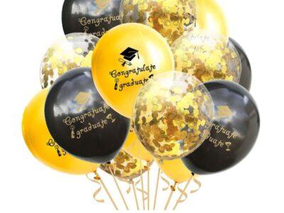 Комплект балони за АБИТУРИЕНТСКИ БАЛ, черен микс 15бр.