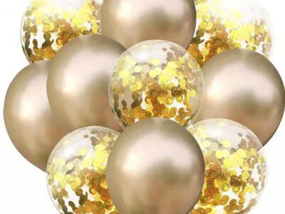 Комплект латексови балони хром GOLD
