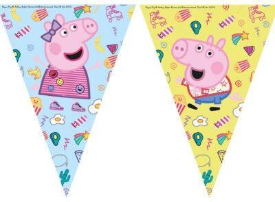 Peppa Pig, гирлянд флагчета